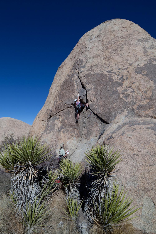 """Climbing """"Planet Y"""", Joshua Tree NP"""