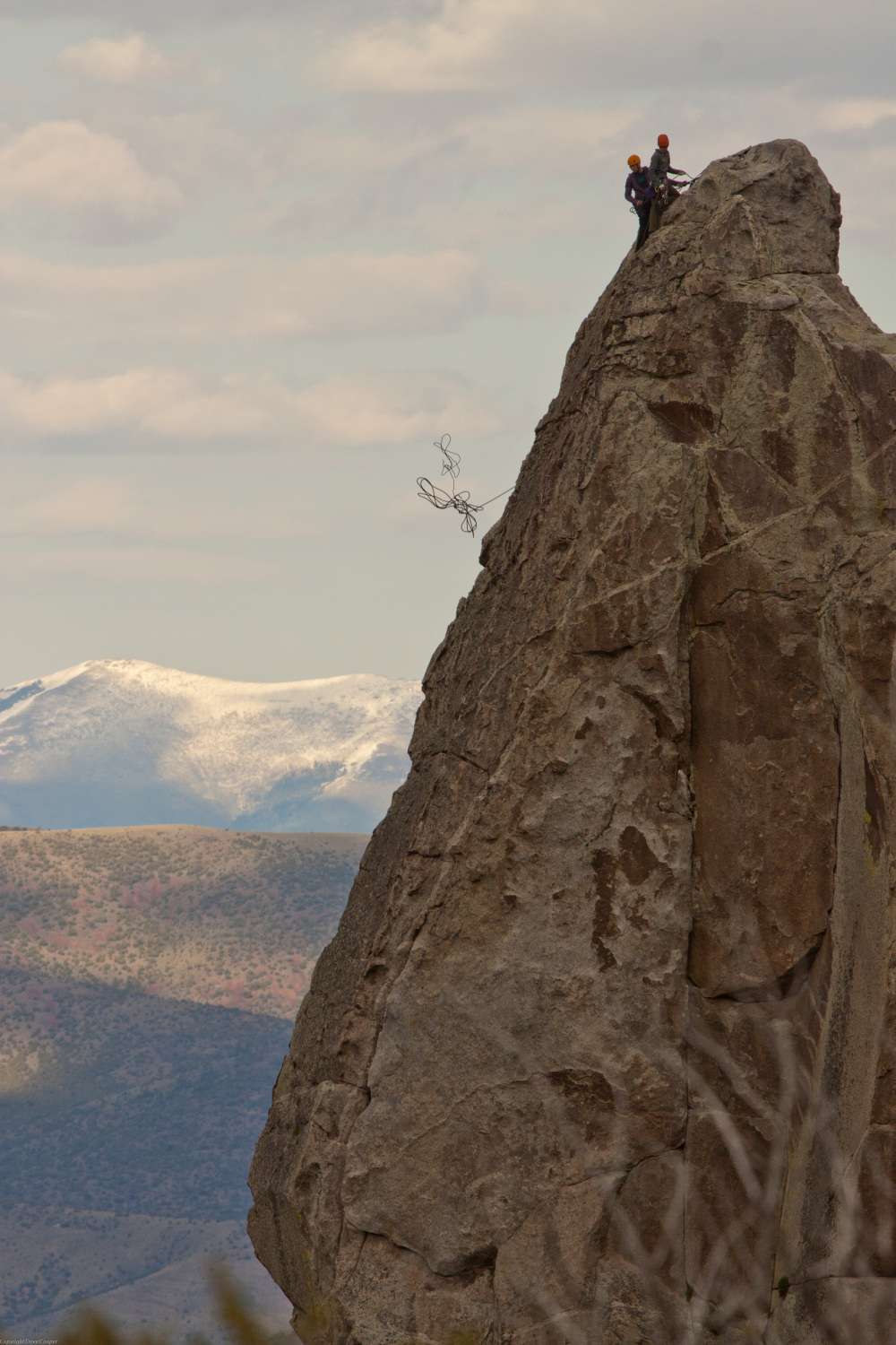 Climbers on the Incisor - City of Rocks