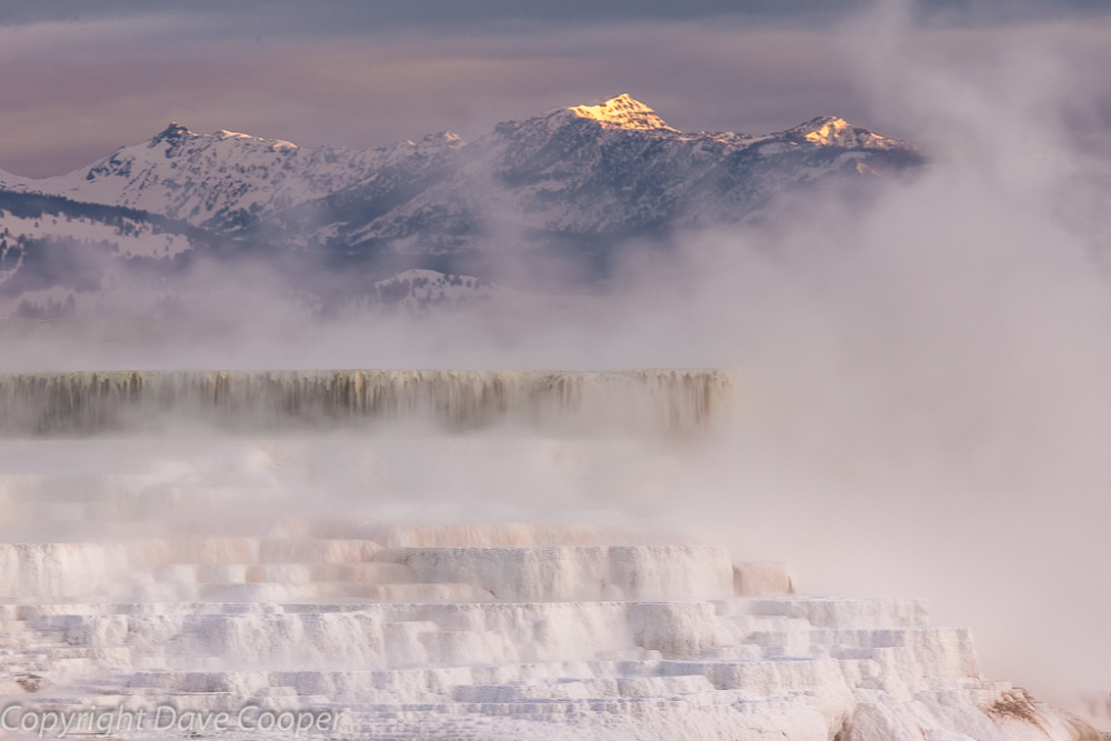 Winter Sunrise on the Travertine Terraces, Mammoth Hot Springs, Yellowstone National Park