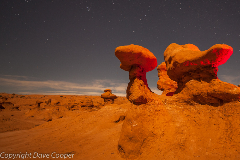 Goblins by Moonlight (with light painting)