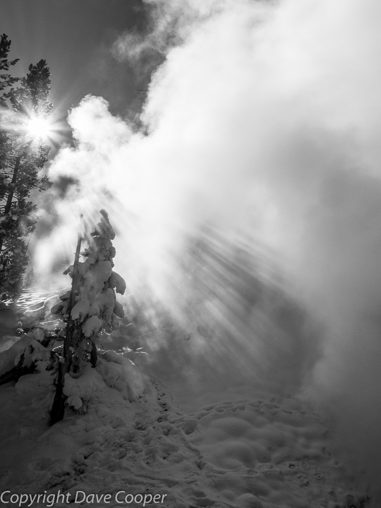 Steam and snow - Yellowstone National Park
