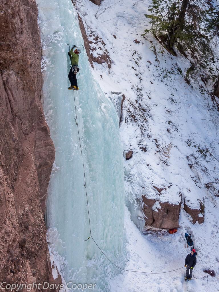 Redstone Pillar Ice Climbing, Redstone, Colorado