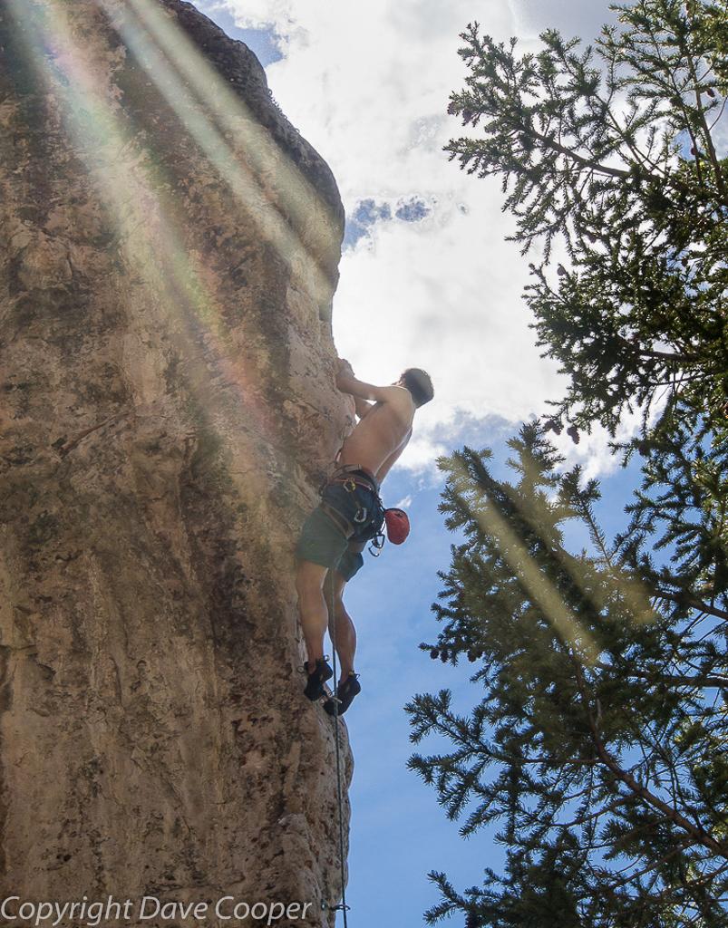 Climbing in Ten Sleep Canyon, Wyoming