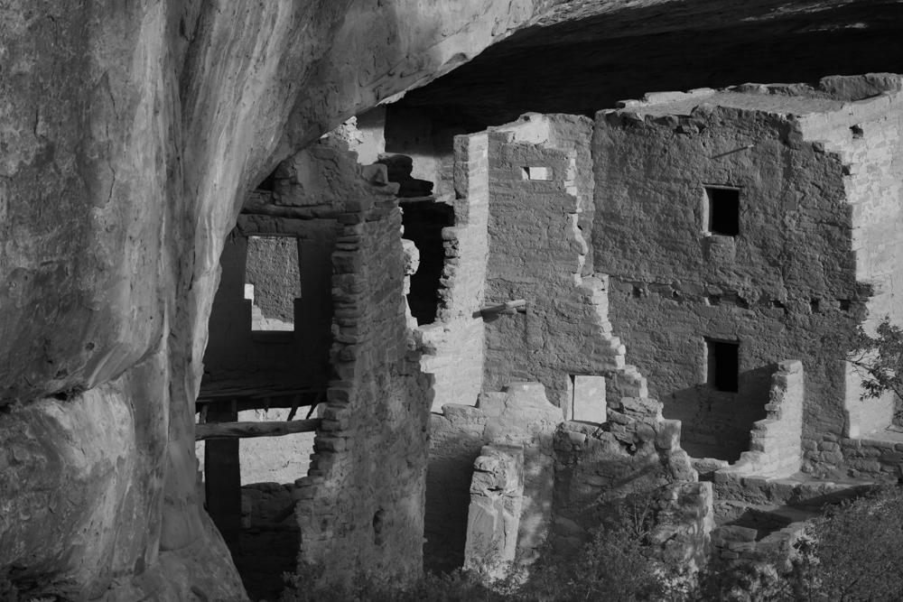 Mesa Verde B&W Anasazi ruins Ancestral Puebloan