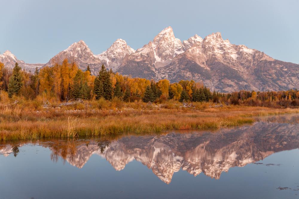 Dawn - Grand Teton National Park, Wyoming mountains