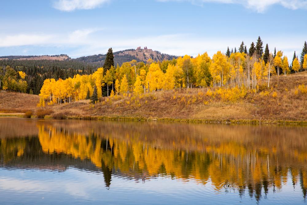 Rabbir Ears, Colorado fall color aspen reflection