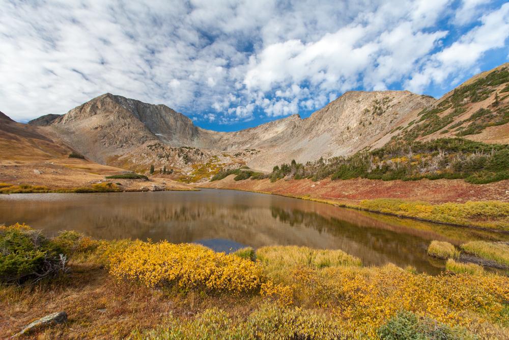 Michigan Lakes, Colorado water fall color tundra