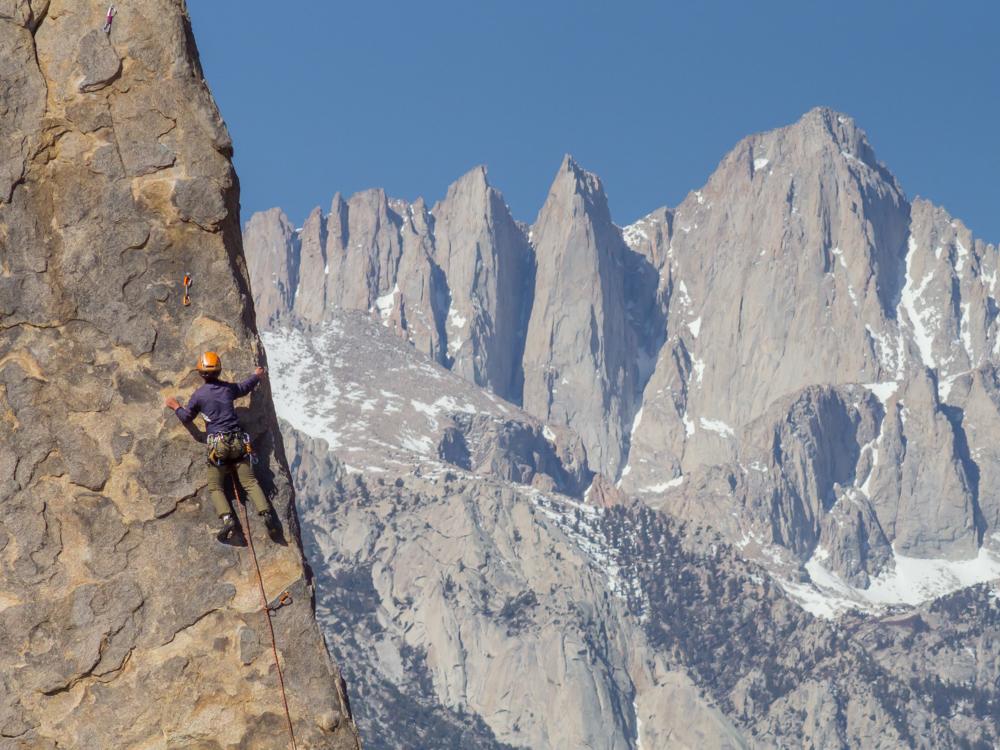 rock climber Alabama Hills sierra eastside Mount Whitney