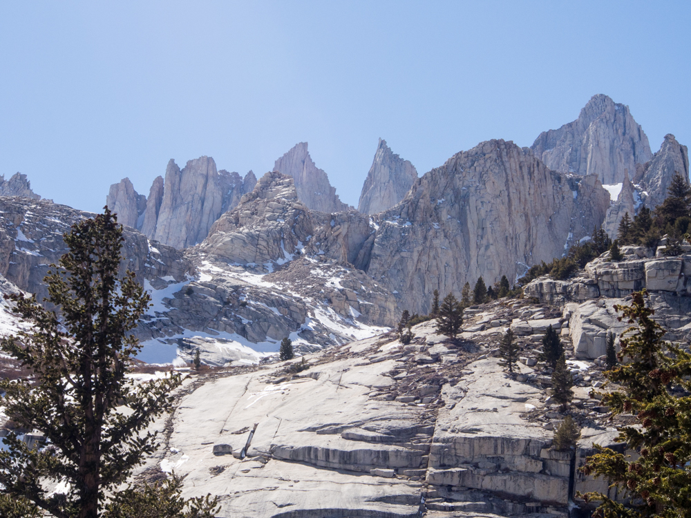 Mt. Whitney from Lower Boy Scout Lake sierra mountains